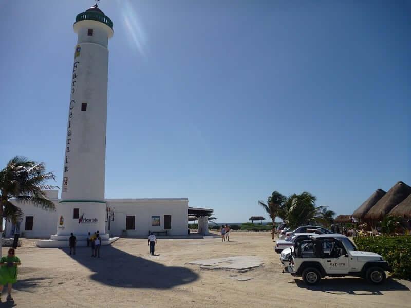 Faro Celarain en la Isla de Cozumel en Cancún
