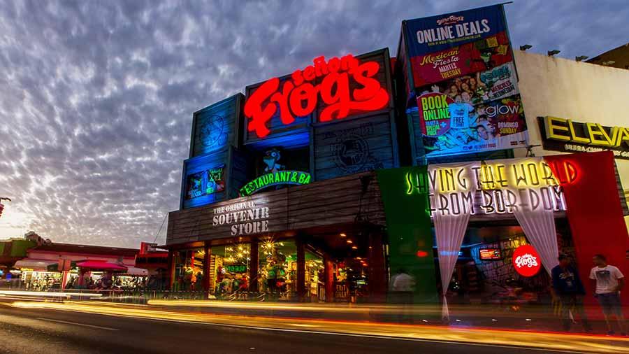 Bar Señor Frogs en Año Nuevo en Cancún